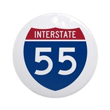 I-55 Highway Ornament (Round)