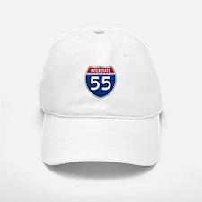 I-55 Highway Baseball Baseball Cap