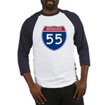 I-55 Highway Baseball Jersey