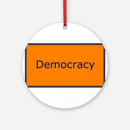 Democracy Ornament (Round)