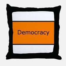Democracy Throw Pillow