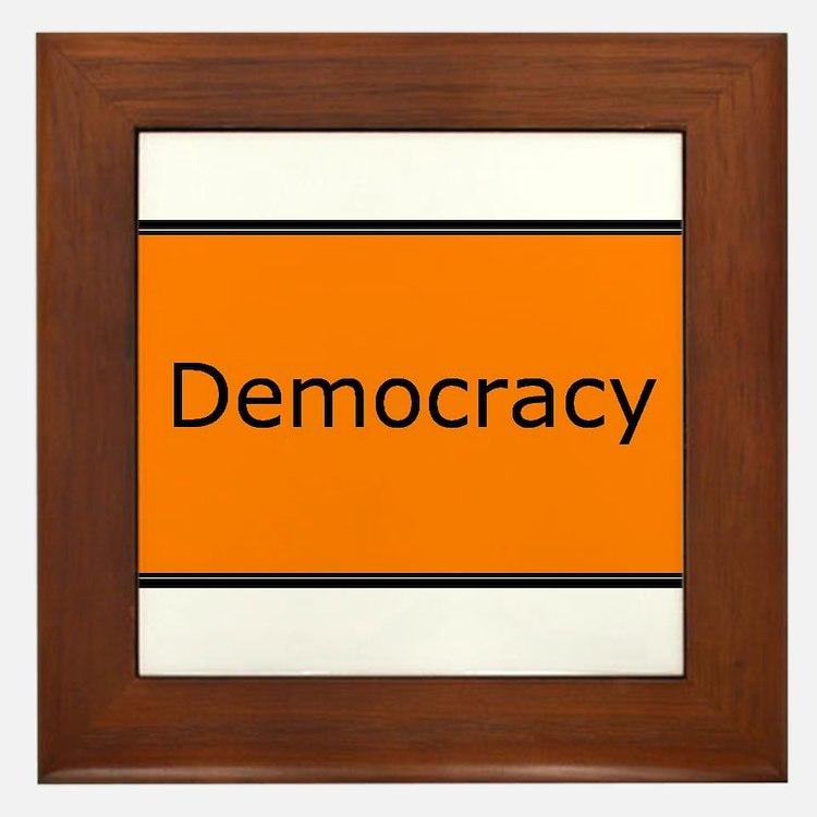 Democracy Framed Tile