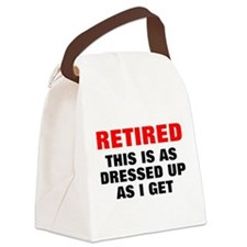 Retired Dressed Up Canvas Lunch Bag