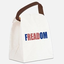 FIN-librarian-freadom.png Canvas Lunch Bag