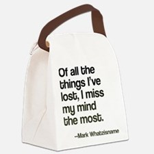 Lost Mind Canvas Lunch Bag