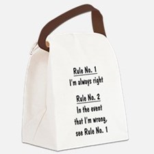 The Rules Canvas Lunch Bag