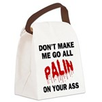 FIN-palin-on-your-ass.png Canvas Lunch Bag