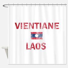 Vientiane Laos Designs Shower Curtain