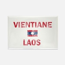Vientiane Laos Designs Rectangle Magnet