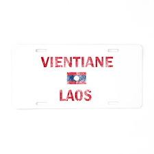 Vientiane Laos Designs Aluminum License Plate