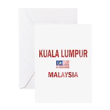 Kuala Lumpur Malaysia Designs Greeting Card
