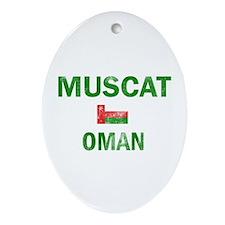 Muscat Oman Designs Ornament (Oval)
