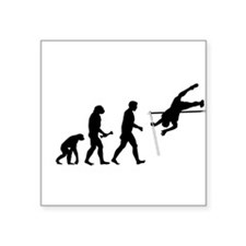 Pole Vaulter Evolution Square Sticker 3