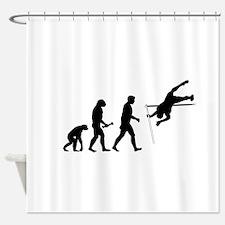 Pole Vaulter Evolution Shower Curtain