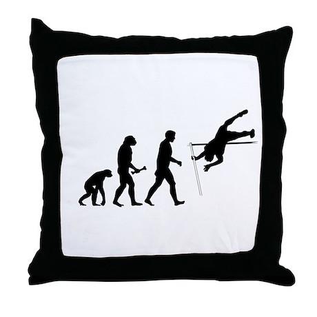 Pole Vaulter Evolution Throw Pillow