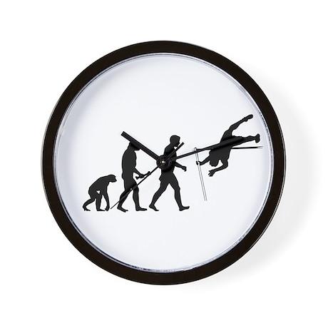 Pole Vaulter Evolution Wall Clock