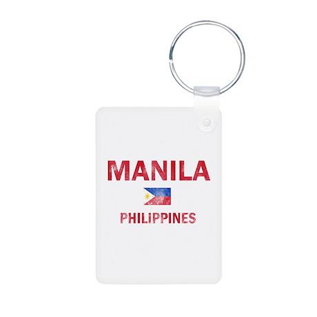 Manila Philippines Designs Aluminum Photo Keychain