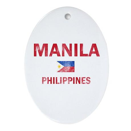 Manila Philippines Designs Ornament (Oval)
