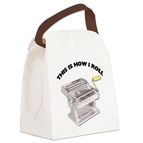 FIN-pasta-how-i-roll.png Canvas Lunch Bag