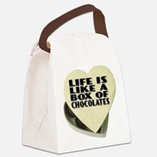 Box Of Chocolates Canvas Lunch Bag