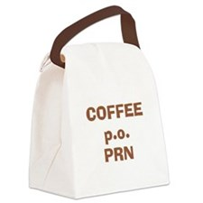 Coffee p.o. PRN Canvas Lunch Bag