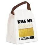 FIN-kiss-me-beer.pn... Canvas Lunch Bag