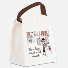 FIN-teach-kid-cook.png Canvas Lunch Bag