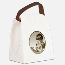 FIN-child-saying-grace.png Canvas Lunch Bag