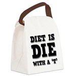 FIN-diet-die-t.png Canvas Lunch Bag