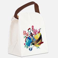 Retro Kitchen Canvas Lunch Bag
