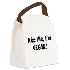 FIN-kiss-me-vegan.png Canvas Lunch Bag
