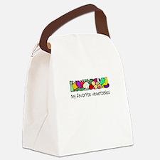 My Favorite Vegetables Canvas Lunch Bag