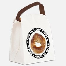 FIN-bagel-how-i-roll.png Canvas Lunch Bag