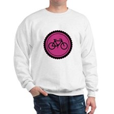 Cute Hot Pink and Black Bicycle Sweatshirt