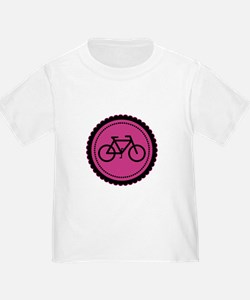 Cute Hot Pink and Black Bicycle T