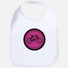 Cute Hot Pink and Black Bicycle Bib