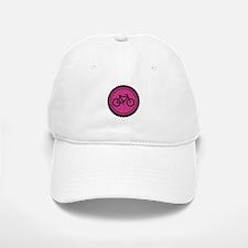 Cute Hot Pink and Black Bicycle Baseball Baseball Cap
