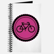 Cute Hot Pink and Black Bicycle Journal
