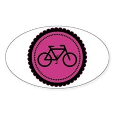 Cute Hot Pink and Black Bicycle Decal