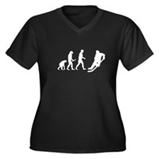Hockey Evolution Women's Plus Size V-Neck Dark T-S