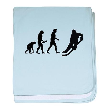 Hockey Evolution baby blanket