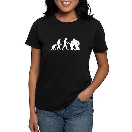 Hockey Goalie Evolution Women's Dark T-Shirt