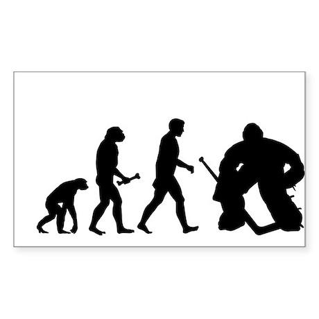 Hockey Goalie Evolution Sticker (Rectangle)