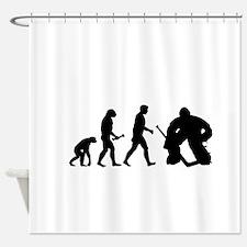 Hockey Goalie Evolution Shower Curtain