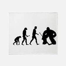 Hockey Goalie Evolution Throw Blanket
