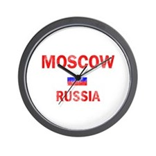 Moscow Russia Designs Wall Clock