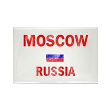 Moscow Russia Designs Rectangle Magnet