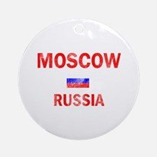 Moscow Russia Designs Ornament (Round)