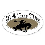 Texas Oval Sticker