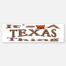 Texas Bumper Bumper Bumper Sticker
